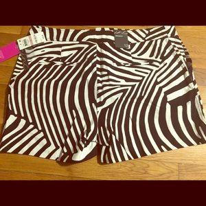 Trina Turk x Inc Zebra print shorts